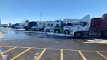 A truck stop in Dutton, Ontario on Wednesday, December 2, 2020. (Sean Irvine CTV News)