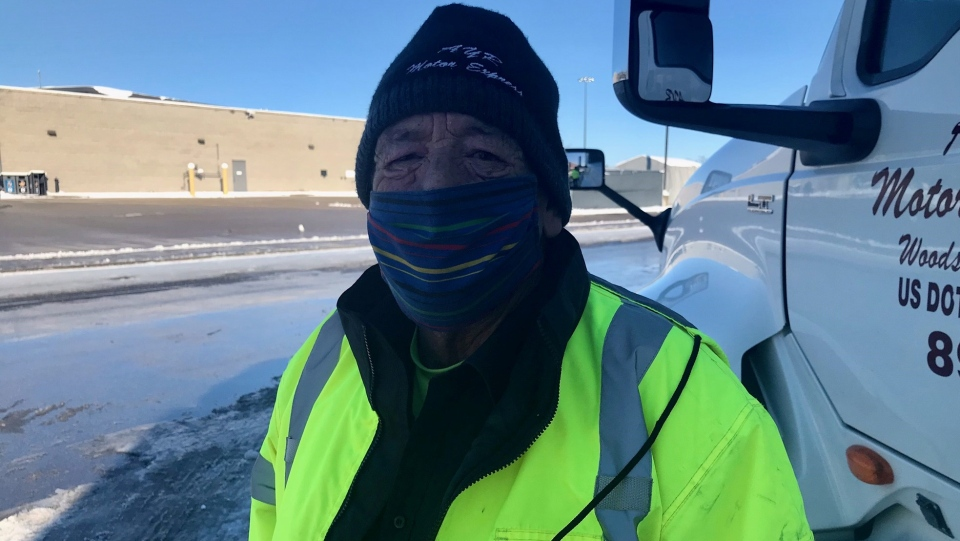 Murray Wilson, 68, continues to deliver even though his profession puts himself at greater risk during the COVID-19 pandemic. (Sean Irvine CTV News)