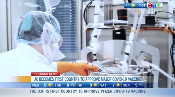 Headlines, UK first country to approve vaccine