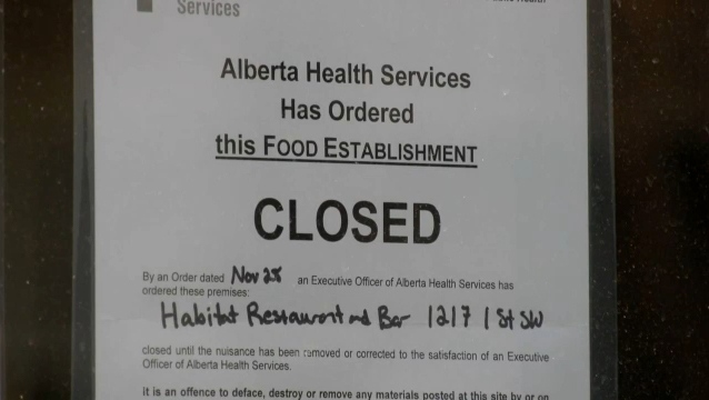 Habitat Restaurant and Bar has been ordered to close after provincial officials found the establishment was violating new government rules.