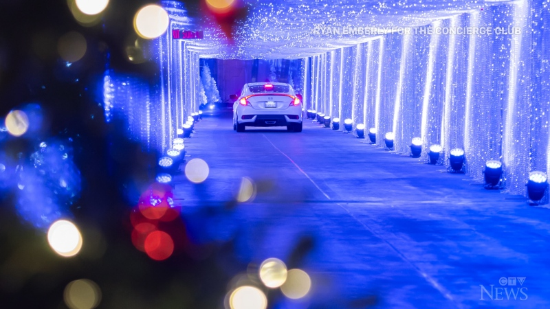 Multi-level Christmas drive-thru opens in Toronto
