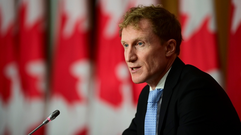 Marc Miller, Minister of Indigenous Services, holds a news conference in Ottawa on Wednesday, Dec. 2, 2020., to announce additional funds to improve access to safe drinking water on reserves. THE CANADIAN PRESS/Sean Kilpatrick