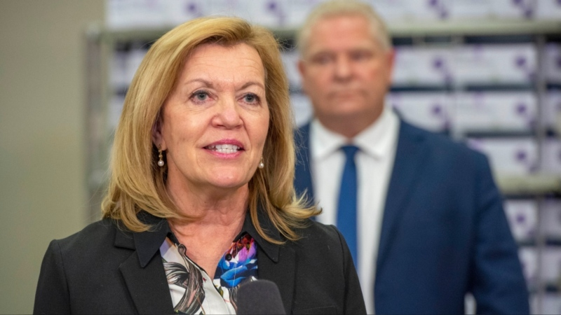Ontario Health Minister Christine Elliott used Alberta as an example of a province in crisis. (File photo)