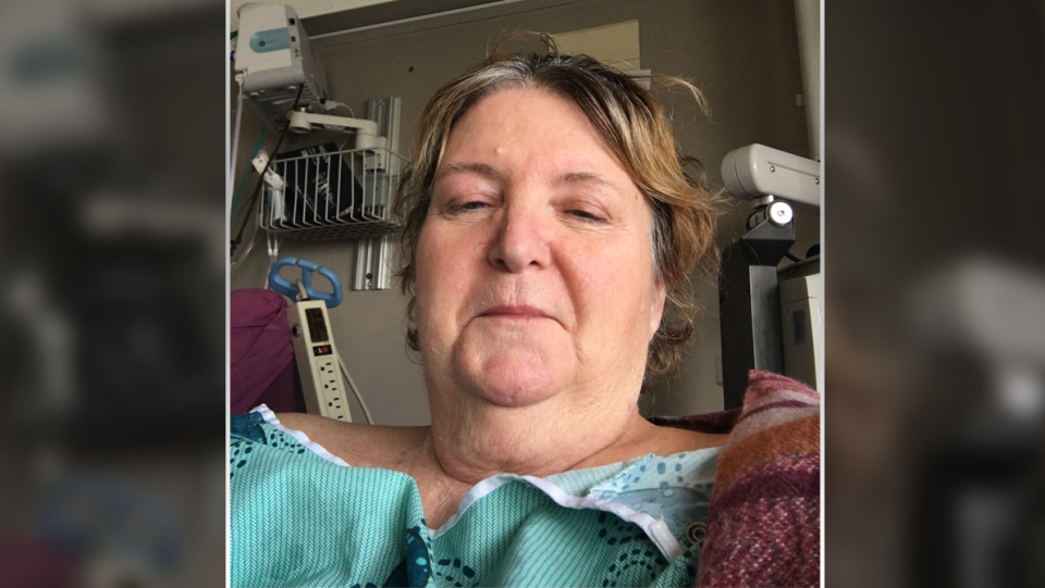 Gale Ramsden is recovering at the Ottawa Hospital after having her limbs amputated. (Photo courtesy: Gale Ramsden)