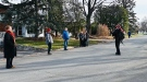 Rose Roberts plays the bagpipes on an Ottawa street. (Joel Haslam/CTV News Ottawa)