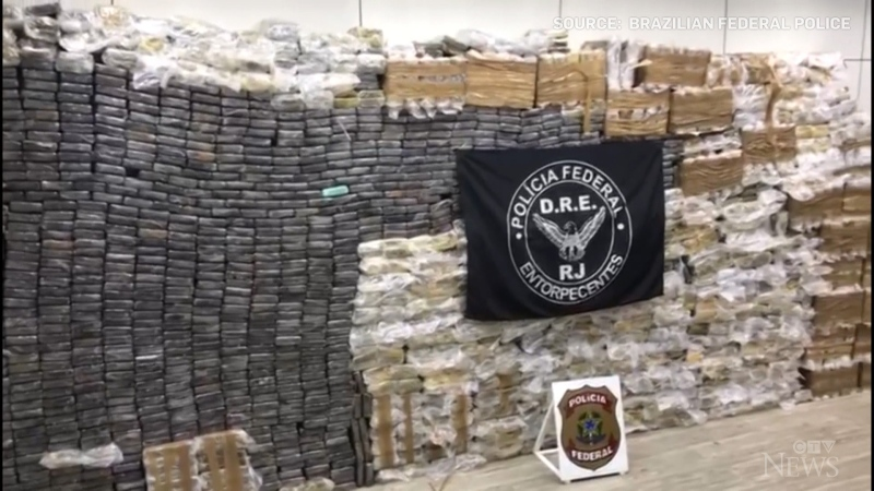 Police in Brazil have seized about 2.5 tons of cocaine, the largest-ever seizure of pure drug in the State of Rio de Janeiro.