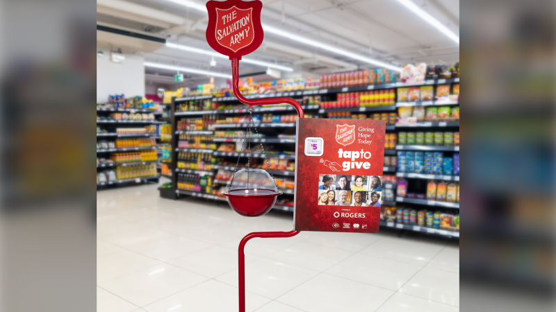 The Salvation Army's newest Kettle Campaign that features a tap-and-go option for donations. (Source: The Salvation Army)