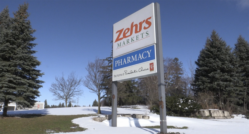 A sign for the Zehrs grocery store in Woodstock, Ont. is seen Wednesday, Dec. 2, 2020. (Bryan Bicknell / CTV News)