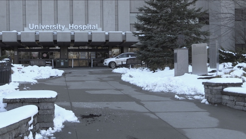 University Hospital shown here on December 2, 2020 (Daryl Newcombe / CTV News)