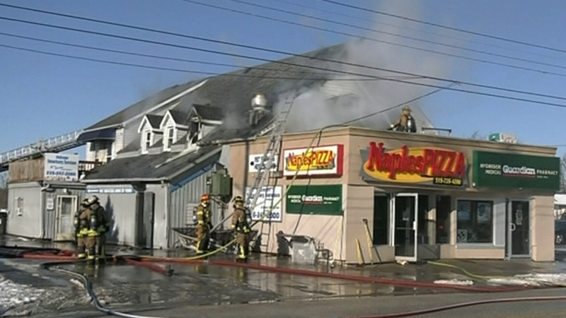 Fire rips through McGregor pizza shop