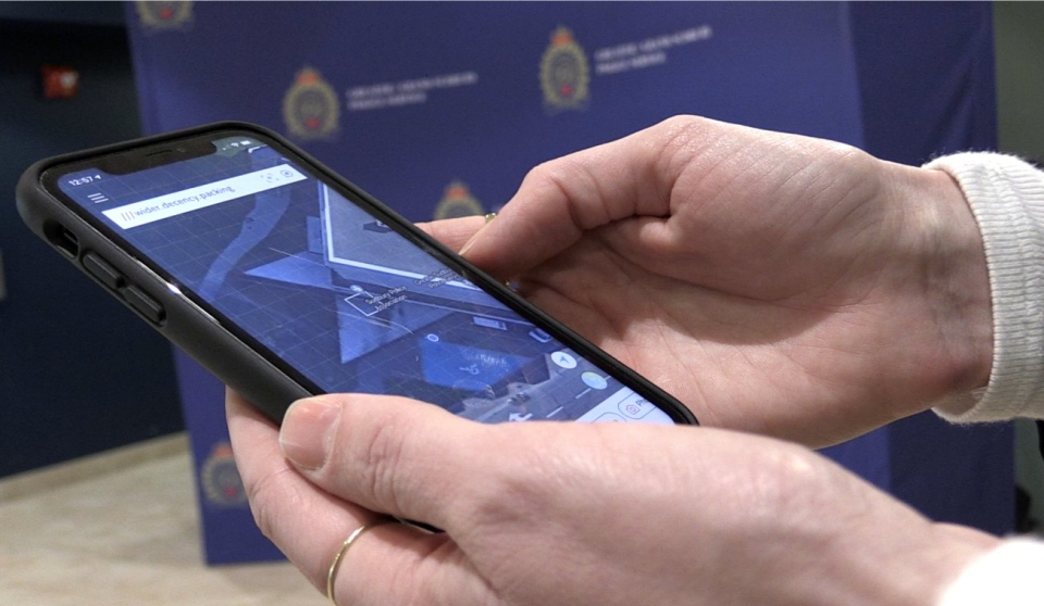 Several police services across Ontario are using a new mobile app that helps first responders find 911 callers who don't know their location. It's called What3words and it can find a person in distress even when there is no cellphone service. (Alana Everson/CTV News)