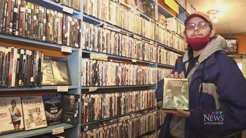 VHS tapes popular at local video store