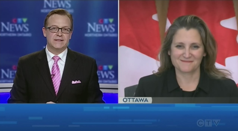 Deputy Prime Minister and Finance Minister Chrystia Freeland talks on what the new federal economic statement means for northern Ontario.