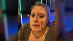 Erin Shaw says she took a glass to the face after enforcing Alberta's COVID-19 mask rules at her family's Crown & Anchor Pub & Grill in north Edmonton on Nov. 28. (Courtesy: Facebook)