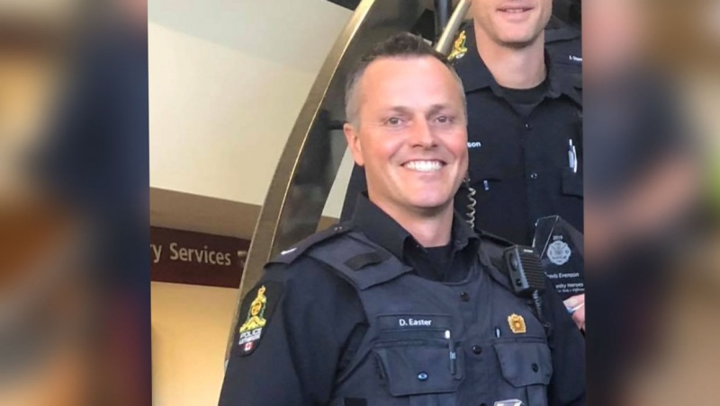 Const. David Easter was charged with assault after an incident at the LPS short-term holding facility this past February. (Supplied)