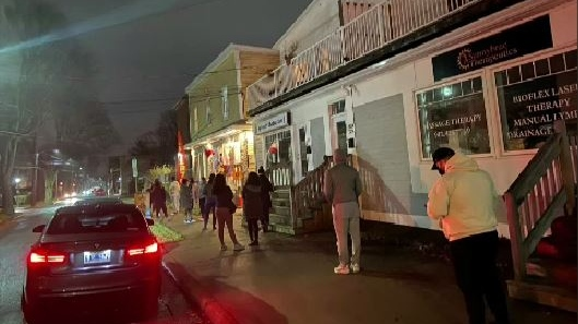 A social media message about the difficulties facing Tako Loko prompted hungry Haligonians to line up down the street for a bite to eat. (COURTESY VICKY RUIZ)