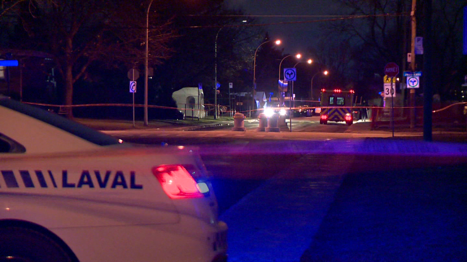 Laval police are investigating after a 39-year-old man was shot and killed. (Cosmo Santamaria/CTV News)