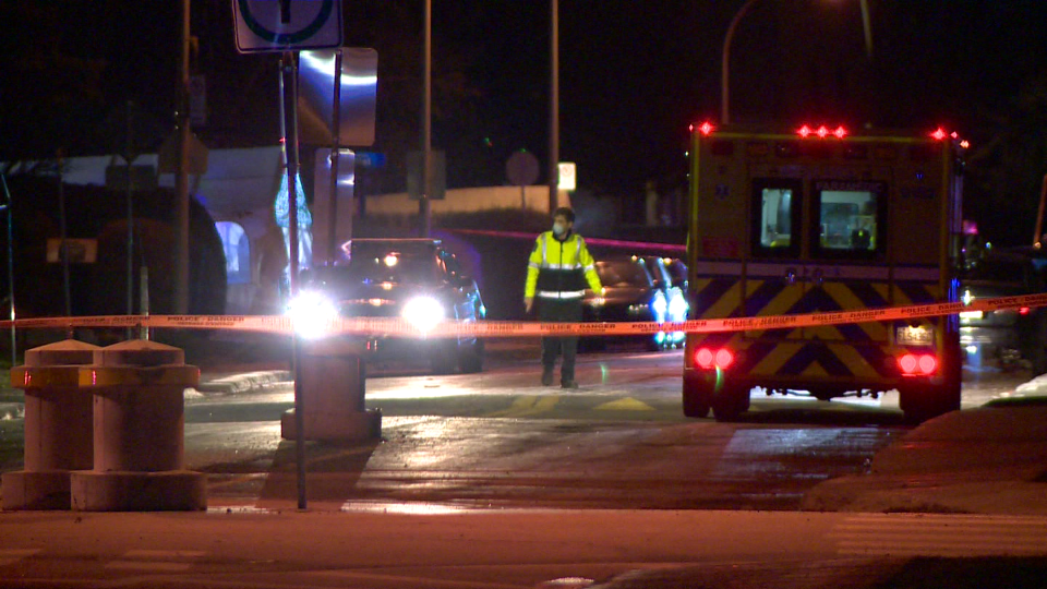 Laval police are investigating what they consider a homicide after a man was shot and killed Dec. 2, 2020. (Cosmo Santamaria/CTV News)