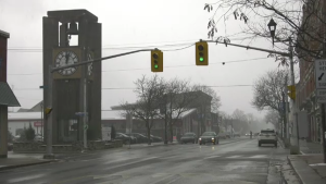 Cloudy downtown Prescott, Ont. on Wednesday, Dec. 2. (Nate Vandermeer/CTV News Ottawa)
