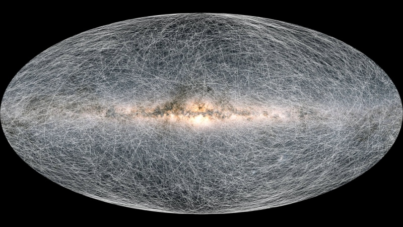 Astronomers have mapped the most extensive atlas of our Milky Way galaxy yet, including the positions of each and every one of those stars. (ESA/Gaia/DPAC)