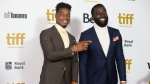 Stephan James, left, and Shamier Anderson arrive at the Toronto International Film Festival Tribute Gala in Toronto on Monday, September 9, 2019. THE CANADIAN PRESS/Chris Young
