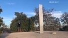 Metal monolith in California