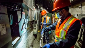 Montreal metro installs 4G network making it the largest indoor and underground network in the country. SOURCE: Julien Perron-Gagne/STM