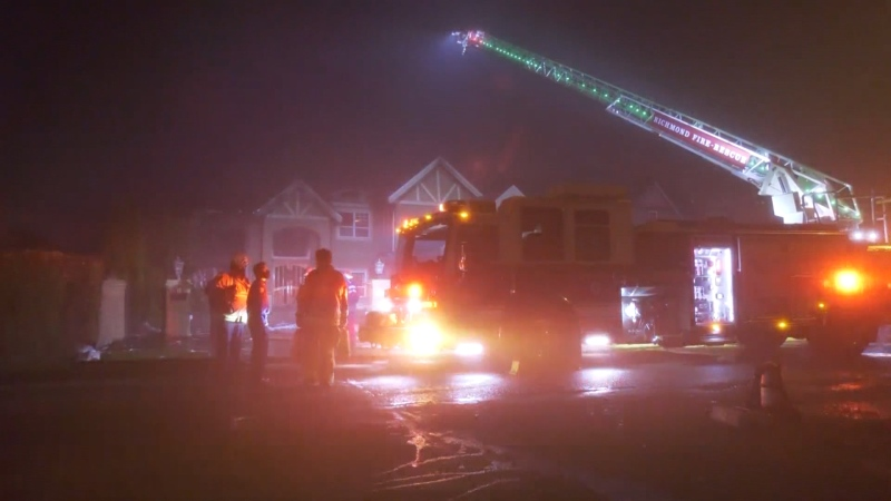 Richmond house fire on Dec. 2, 2020.
