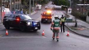 Crews responded to a gas leak in West Vancouver early on Dec. 3, 2020.