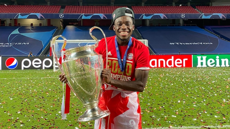 Edmonton's Alphonso Davies won the UEFA Champions League with FC Bayern Munich in August 2020. (Twitter/@AlphonsoDavies)