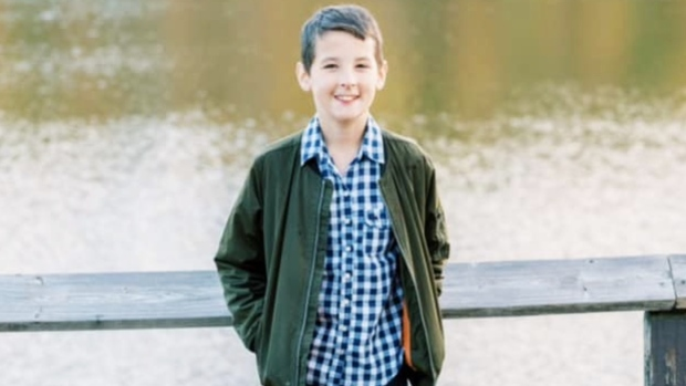 Jude Strickland, 11, is seen in this photo posted to Facebook by his father. The boy died after being struck by a car in Hamilton, Ont. (Facebook / Jamie Strickland)