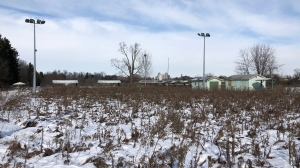 The proposed new location for the Humane Society London Middlesex is seen at 1414 Dundas St. in London, Ont. on Thursday, Dec. 3, 2020. (Jim Knight / CTV News)