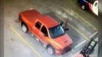 Calgary police say a suspect used this truck when renting tools, which were done under fake names. (Calgary police handout)
