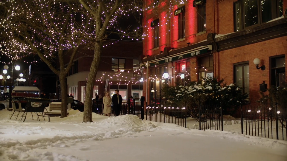 Ottawa's ByWard Market seen in the Christmas movie Midnight at the Magnolia. (Photo courtesy: Youtube/MarVista Entertainment)
