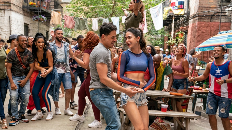 "This image released by Warner Bros. Picures shows a scene from the upcoming film ""In the Heights."" (Macall Polay/Warner Bros. Entertainment via AP)"