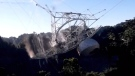 Watch the moment the Arecibo Observatory collapses