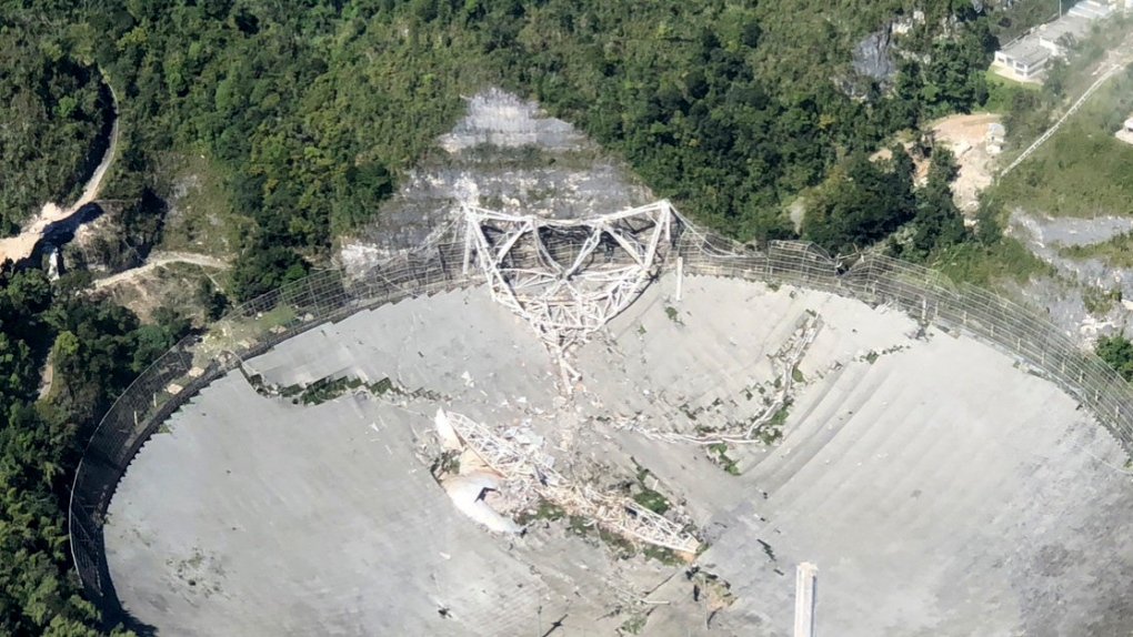 Arecibo collapse: a drone filmed the disaster