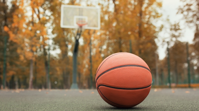 Empty basketball court. (Shutterstock)
