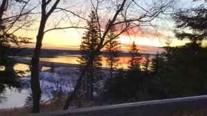 Sunrise over the Pinawa Bridge. Photo by Marian McLaughlin.