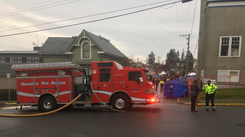 Nanaimo homeless fire