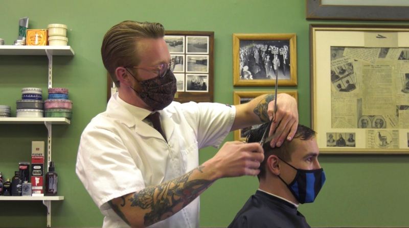 Parlour Barber Shop's owner Sean Craib-Petkau is using the the shop as a way to open up conversations about men's mental health.