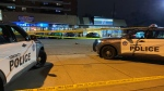 The scene of a shooting in Toronto on Dec. 3, 2020 is seen.