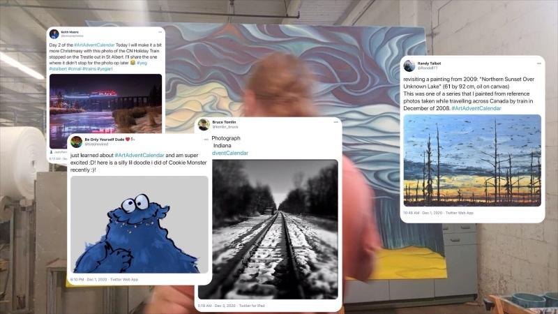 #ArtAdventCalendar on Twitter.