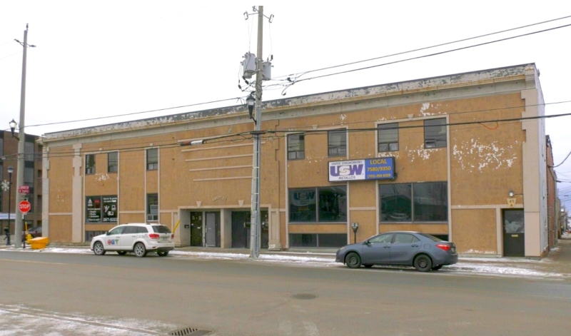 The Laroplex building at the corner of Spruce Street South and Third Avenue in Timmins is well situated for affordable housing. It's near the bus station, medical and legal services, shops and restaurants. (Lydia Chubak/CTV News)