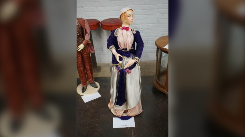 A window display from the former Eaton's store in Winnipeg is being auctioned as part of an estate sale. (Image source: Kaye's Auction House)
