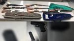 Police found these guns after executing a search warrant at a Stony Plain residence. (Source: Edmonton Police Service)