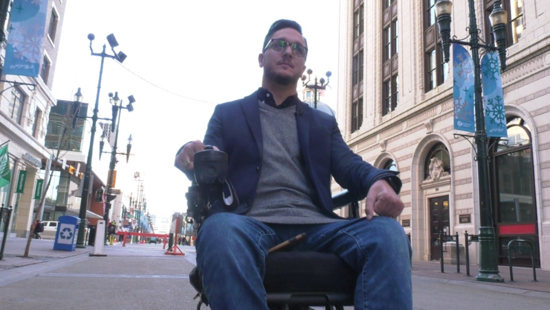 Sean Crumb, who broke his back in a diving incident, has made it his mission to ensure those with disabilities are kept safe while going about their daily business.