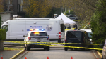 The scene of a homicide in Surrey is seen Thursday, Dec. 3, 2020.