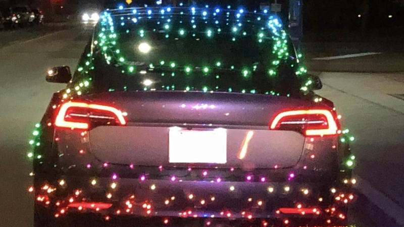 Driver gets ticket for decorations