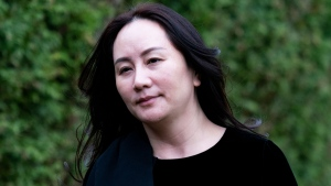 Chief Financial Officer of Huawei Meng Wanzhou leaves her home in Vancouver, Monday, November 16, 2020. (THE CANADIAN PRESS/Jonathan Hayward)